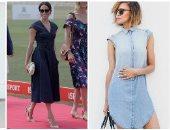 على طريقة ميجان ماركل.. طرق مختلفة البسى بيها الفستان الجينز فى الصيف