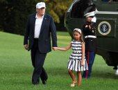 صور.. ترامب وأحفاده يعودون إلى واشنطن بعد عطلة نهاية الأسبوع
