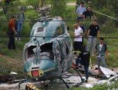 صور..صحيفة صينية: سقوط طائرة هليكوبتر فى شمال بكين