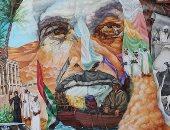 قصة جرافيتى للشيخ زايد بن سلطان مؤسس الإمارات بنظرة أوكرانية