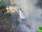 مشاهد مفزعة من عمليات إخماد الحرائق فى كاليفورنيا