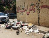 شكوى من تراكم القمامة بشارع سنان أمام كنيسة العذراء بالزيتون