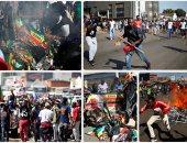 كر وفر فى العاصمة هرارى احتجاجا على فوز مانجاجوا
