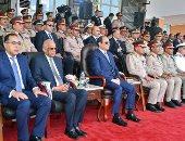 الرئيس السيسى يشهد الاحتفال بتخريج الدفعة 156 متطوعين من ضباط الصف المعلمين