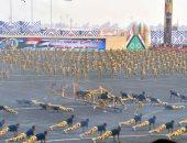 صور.. خريجو الدفعة 156 ضباط الصف يؤدون العرض العسكرى أمام الرئيس السيسى