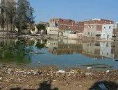 """اضبط مخالفة.. أرض مركز شباب """"الدميين"""" بالشرقية تتحول لبركة مياه صرف صحى"""