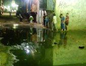 شكوى من انتشار مياه الصرف الصحى بشارع منشية بشبرا الخيمة