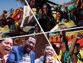 أنصار الرئيس منانجاجوا يحتفلون بفوزه فى الانتخابات الرئاسية بزيمبابوى