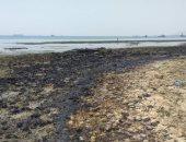 صور .. النيابة تعاين موقع التلوث البترولي بشاطئ السويس
