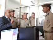 صور.. مدير أمن كفر الشيخ يتفقد النجدة والحماية المدنية
