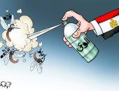 الوعى يقضى على الفتن والشائعات والإحباط فى كاريكاتير اليوم السابع