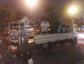 صور.. أمن القاهرة يطارد الإشغالات أعلى الكبارى وضبط 26 بائعا و20 عربة مأكولات