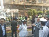 صور.. مدير أمن القاهرة يتفقد حركة المرور خلال إصلاح ماسورة مياه بوسط البلد