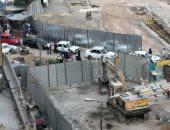 """قارئ يناشد بتسهيل حركة المرور بمحيط أعمال المترو بجسر السويس """"صور"""""""