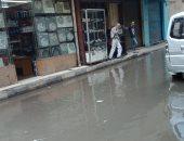 قارئ يشكو من انفجار ماسورة صرف صحى فى شارع عرابى بوسط البلد