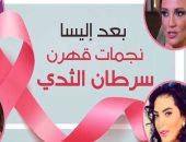 فيديو جراف ...بعد إليسا.. نجمات قهرن سرطان الثدي
