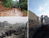 """صور العالم هذا المساء.. """"الاحتلال الإسرائيلى يواصل قمعه"""".. إصابة 18 شخصا فى قصف على غزة.. الأمطار تشرد الآلاف والانهيارات تقتل العشرات فى الهند.. مقتل 17 جنديا فى هجوم على قاعدة عسكرية شمال شرق نيجيريا"""
