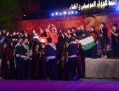 فيديو.. دلال أبو آمنة ترتدى علم فلسطين بحفل محكى القلعة