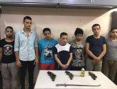 القبض على 7 متهمين بحوزتهم أسلحة وذخيرة قبل استخدامها للتشاجر بالسلام