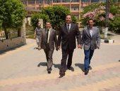رئيس جامعة المنوفية يتفقد كلية التربية للطفولة المبكرة ويجتمع بالمسئولين بها