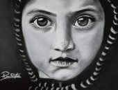 رنا هشام تبدع برسومات تبرز موهبتها فى إخراج بورتريهات متميزة