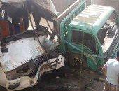 إصابة 11 شخصا فى انقلاب سيارة على صحراوى بنى سويف الشرقى