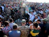"""صور.. آلاف الأردنيين يشيعون جثامين شهداء عملية """"السلط"""" الأمنية"""