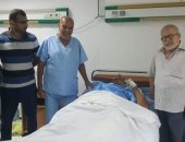 إنقاذ حياة سائق تريلا من الموت بمستشفى نويبع المركزى بعد انقلاب سيارته