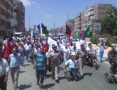 رجال الدين الاسلامي والمسيحي  يشاركون في مسيرة اليوم العالمي للشباب بكفر الشيخ