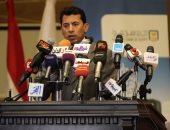 وزير الرياضة يؤازر بعثة المصرى هاتفياً قبل موقعة الكونفدرالية