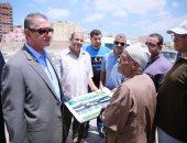 محافظ كفر الشيخ يتفقد أعمال المرحلة الثانية من كورنيش النيل بتكلفة 24 مليون جنيه
