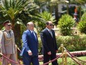 شاهد مراسم استقبال الرئيس السيسى لنظيره اليمنى