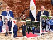 الرئيس السيسي يستقبل نظيره اليمنى بالاتحادية ويوقعان اتفاقيات تعاون