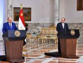 السيسي:نرفض أن يتحول اليمن لمنصة تهديد لحرية الملاحة فى البحر الأحمر وباب المندب