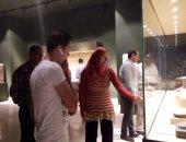 صور.. إقبال شديد على متحف سوهاج القومى بعد افتتاحه