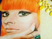 """نجاة تشارك برسوماتها ولوحاتها.. وتؤكد: حلم حياتى أكون زى """"زها حديد"""""""