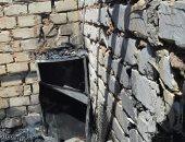 صور .. السيطرة على حريق هائل نشب داخل منزل بالفرافرة دون خسائر بشرية