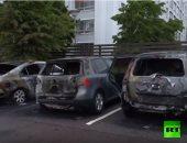 ننشر فيديو إحراق عشرات السيارات فى ليلة واحدة بالسويد.. الشرطة تشتبه بمراهقين