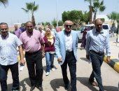 وفد من المجتمعات العمرانية يتفقد المشروعات الجديدة بمدينة طيبة بالأقصر