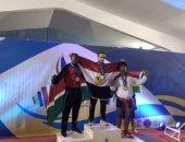 صور.. أحمد عادل يتوج بثلاث ذهبيات فى البطولة الأفريقية للأثقال