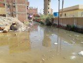 """صور.. قرية أبو سلطان بالإسماعيلية تغرق فى """"برك"""" الصرف الصحى"""
