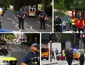 انتشار أمنى مكثف أمام مقر البرلمان البريطانى بعد اصطدام سيارة بحاجز أمنى