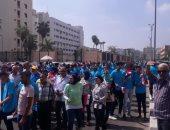 صور.. مسيرة شبابية ببورسعيد ضمن احتفالات وزارة الرياضة باليوم العالمى للشباب