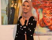 """""""شيماء أحمد"""" تشارك صحافة المواطن بموهبتها فى الرسم بالفحم وألوان الماء"""