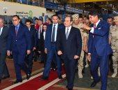 """أول صور لتفقد الرئيس السيسى مصنع """"حديد المصريين"""" فى بنى سويف"""