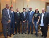 وزير الرياضة يلتقى أمين عام الاتحاد العربى و رئيس الاتحاد المصرى للكرة الطائرة