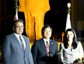 وزيرا السياحة والآثار فى حفل وداع السفير اليابانى بالمتحف المصرى الكبير