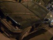سيارة مركونة بشارع إسكندر إبراهيم فى الإسكندرية تثير قلق المواطنين