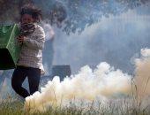 صور..اشتباكات بين المتظاهرين والشرطة فى كولومبيا للمطالبة بإقالة الحكومة