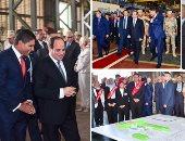 فيديو وصور جديدة لتفقد الرئيس السيسي مصنع حديد المصريين